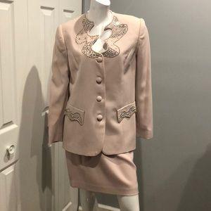 Vintage Alberto Makali for Cache skirt suit